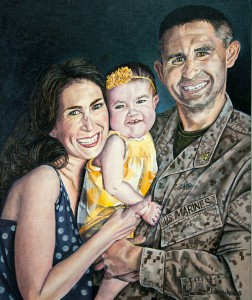 Love of a Child and Country, Oil on Canvas, 20 x 24 %22, 2015